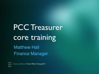 PCC Treasurer core training
