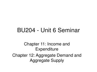 BU204 - Unit 6 Seminar
