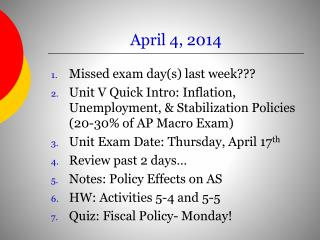 April 4, 2014