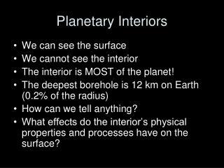 Planetary Interiors