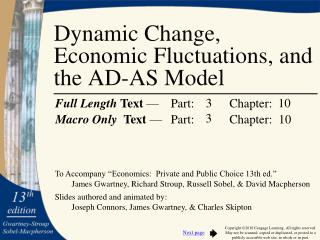 Dynamic Change, Economic Fluctuations, and the AD-AS Model