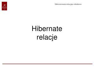 Hibernate relacje