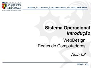 Sistema Operacional Introdução
