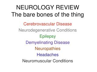 NEUROLOGY REVIEW The bare bones of the thing