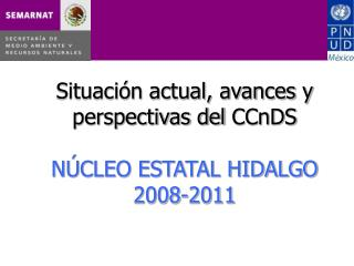 Situación actual, avances y perspectivas del  CCnDS NÚCLEO ESTATAL HIDALGO 2008-2011