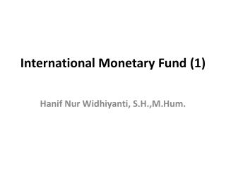 International Monetary Fund  (1)