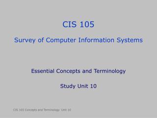 CIS 105