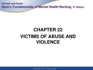 CHAPTER 22 VICTIMS OF ABUSE AND VIOLENCE