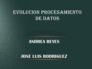 EVOLUCION PROCESAMIENTO DE DATOS