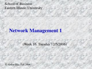 Network Management 1
