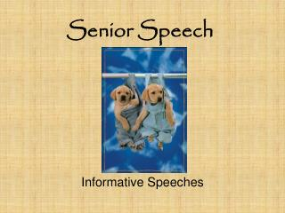 Senior Speech