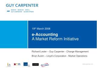 e-Accounting A Market Reform Initiative