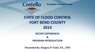STATE OF FLOOD CONTROL FORT BEND COUNTY 2014