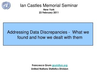 Addressing Data Discrepancies -  What we found and how we dealt with them