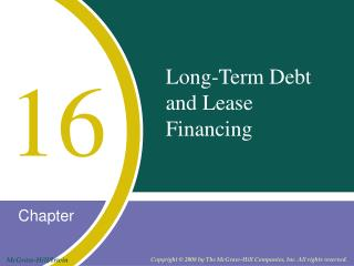 Long-Term Debt and Lease Financing