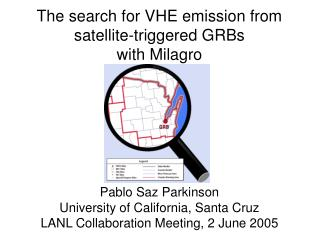 The search for VHE emission from satellite-triggered GRBs with Milagro