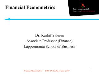 Financial Econometrics