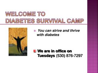 Welcome to  Diabetes Survival Camp