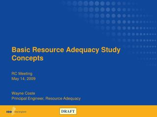 Basic Resource Adequacy Study Concepts