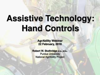 Assistive Technology: Hand Controls