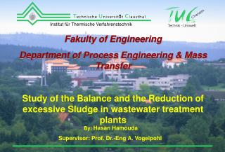 Fakulty of Engineering Department of  Process Engineering & Mass Transfer