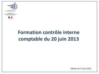Formation contrôle interne comptable du 20 juin 2013