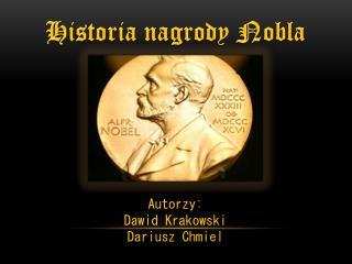 H istoria nagrody Nobla