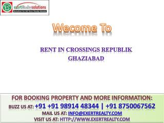 Rent in Crossing @@  91 8750067562 ## Crossings Republik Gha