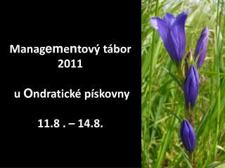 Manag em e n tový tábor 2011  u  O ndratické pískovny 11.8 . – 14.8.