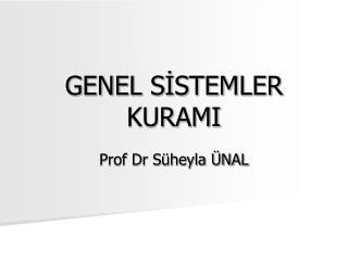 GENEL S?STEMLER KURAMI