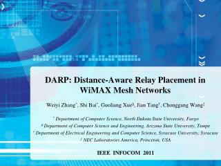 DARP: Distance-Aware Relay Placement in WiMAX Mesh Networks
