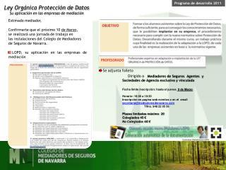 Programa de desarrollo 2011