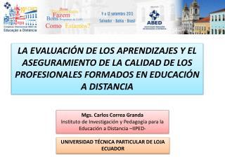 Mgs . Carlos Correa Granda