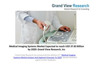 Medical Imaging Systems Market Segmentation to 2020.