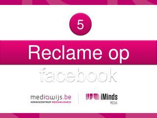 Reclame  op  facebook
