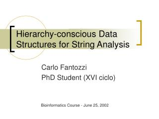Hierarchy-conscious Data Structures for String Analysis