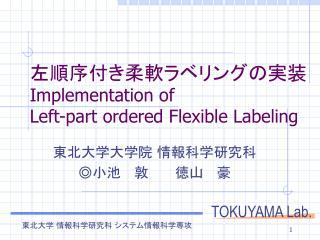 左順序付き柔軟ラベリングの実装 Implementation of  Left-part ordered Flexible Labeling