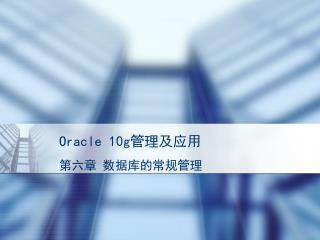 Oracle 10g 管理及应用