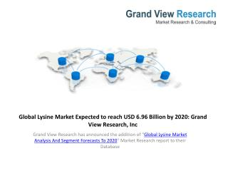 Global Lysine Market Study From 2014 To 2020.