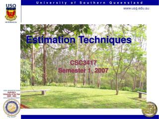 Estimation Techniques