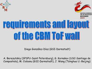 requirements and layout  of the CBM ToF wall