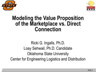 Modeling the Value Proposition of the Marketplace vs. Direct Connection
