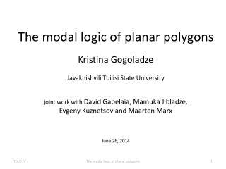 The modal logic of planar polygons