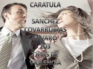 CARATULA SANCHEZ COVARRUBIAS ALVARO 203 TIPOS DE VIOLENCIA