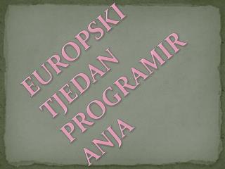 EUROPSKI  TJEDAN PROGRAMIRANJA