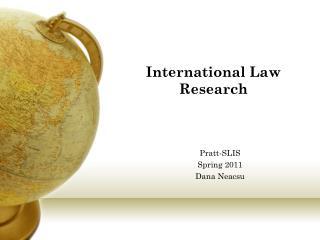 International Law Research