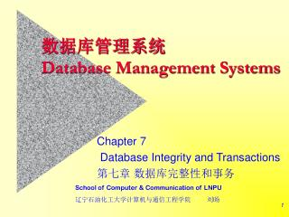 ??????? Database Management Systems