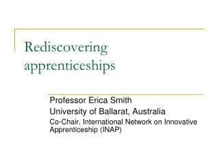 Rediscovering apprenticeships