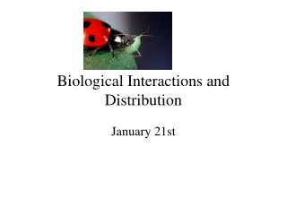 Biological Interactions and Distribution