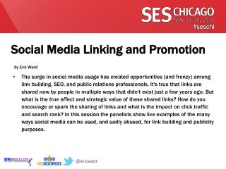 Social Media Linking and Promotion by Eric Ward